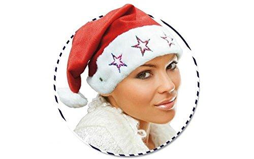 GUIRMA Cappello di Babbo Natale con luci intermittenti Cappuccio Luminoso