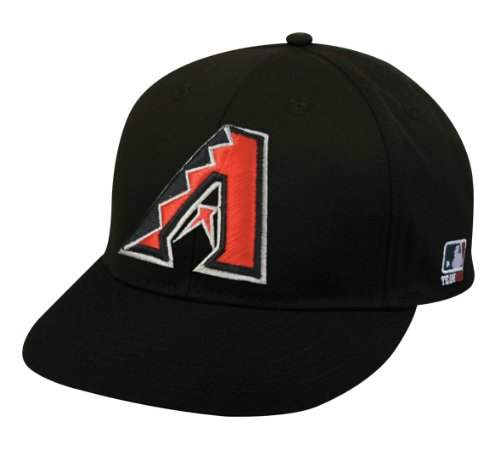 Adult FLAT BRIM Arizona Diamondbacks Alternate Black Hat Cap MLB Adjustable