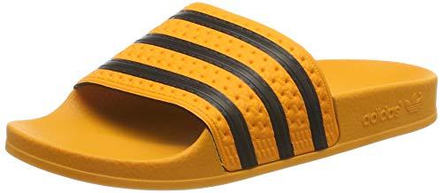 adidas Adilette, Herren Pantoffeln, Orange (Real Gold S18/core Black/real Gold S18), 40 1/2 EU (7 UK)
