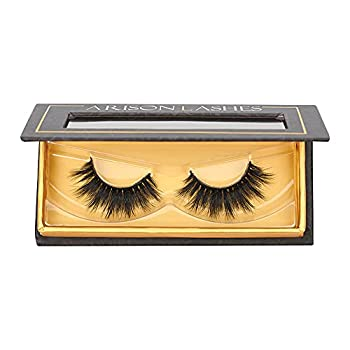 Arison Mink Lashes Natural Look Wispy Fake Lashes 3D Mink Eyelashes Fluffy Real Long Lashes Bulk for Women  W21