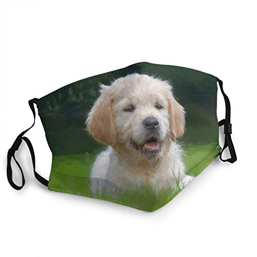 Juanjuan Beautiful Hand Drawn Cute Dogs Adult Mouth Covers,Adjustable Anti Dust Half Face Mouth Cover For Women Men Outdoor/Sports/Motor/Cycling (7.9 X 5.9 Inch)