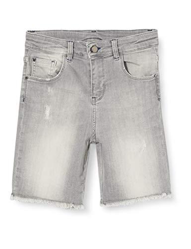 Mexx Jungen 951030 Shorts, Grau (Mid Grey Wash 318522), (Herstellergröße: 140)
