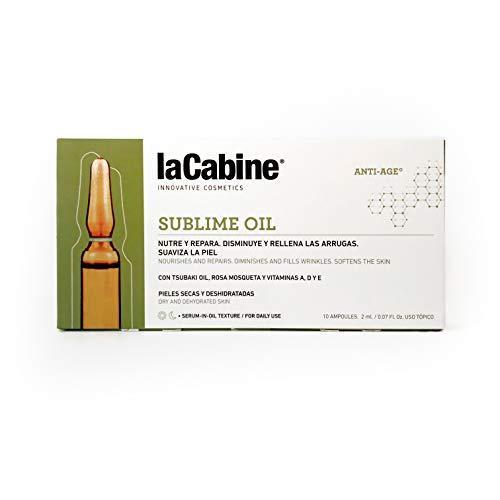 La Cabine Sublime Ampollas, mengsel van natuurlijke gezichtsoliën met rozenolie, anti-rimpel, genezing en reparatie