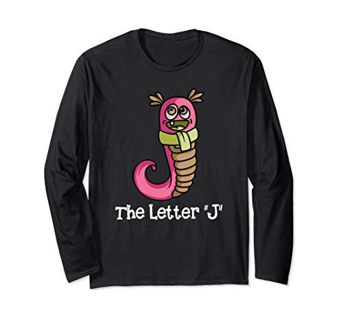 """Monster-Alphabet! Der Buchstabe \""""J\"""" Kindergarten Kleinkind Langarmshirt"""