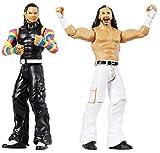 Wwe Coffret 2 Figurines Articulées The Hardy Boyz de 17Cm en Tenue de Combat, Jouet pour Enfant, Gbn59