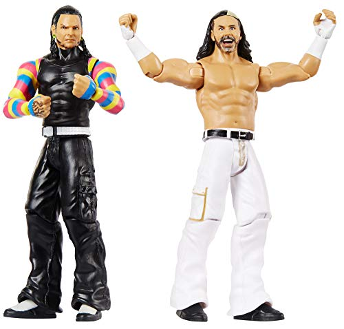 WWE GBN59 - Basis Actionfiguren 2er Pack The Hardy Boyz 15 cm, Actionfiguren ab 6 Jahren