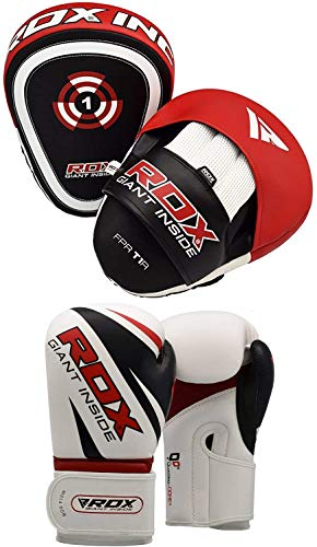 RDX Handpratzen Boxen Pads Boxhandschuhe Boxpads Boxsack Mitts Kampfsport Boxpratzen Schlagpolster Kickboxen Training Schlagkissen (MEHRWEG)