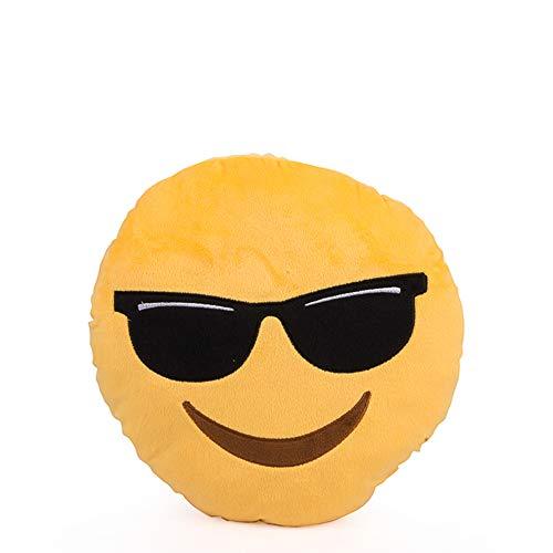 D-Mail - Cojín Emoticono con Gafas de Sol