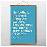 Pep Guardiola Fußball Zitat Malerei Wandkunst Jungen
