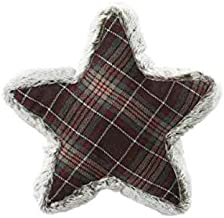D. Stevens, LLC Christmas Faux Fur Edged Star Shaped Throw Pillow in Your Choice 3 Colors (Grey Multi)