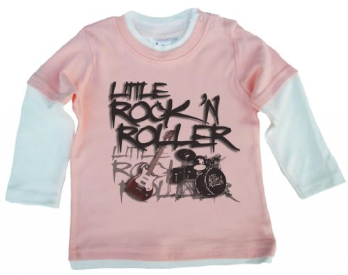 Dirty Fingers Little Rock 'N' Roller, Baby patineuse Top - Rose - XXXXS