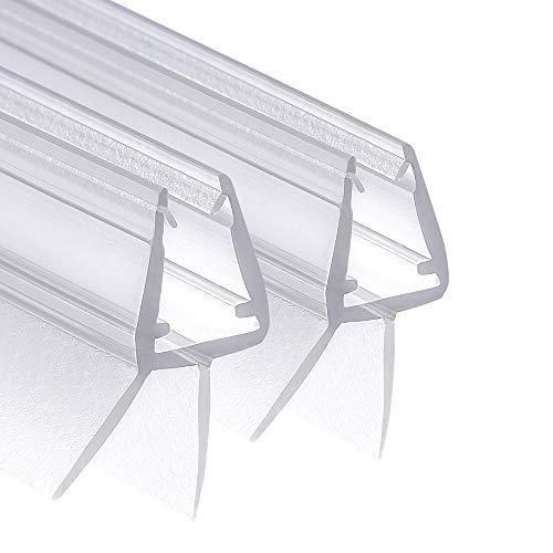 Wellba Premium Duschtür Dichtung (2x 80cm) für 6mm 7mm 8mm Glastür Stärken | Wasserabweisende Duschdichtung oder Duschkabinen-Dichtung mit optimal angeordneten Gummilippen