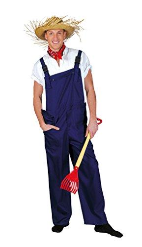 Karneval-Klamotten Kostüm Latzhose blau Gärtnerhose Blaue Arbeitshose blau Blaumann Herren-Kostüm Damen-Kostüm Fasching Karneval
