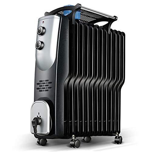 HKDJ-elektrische oliegevulde radiator met geavanceerde warmtecirculatie, 3 energieinstellingen en oververhittingsbeveiliging, instelbare thermostaat en thermische veiligheid afgesneden