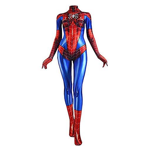 JHDUID Spiderman Strumpfhosen MJ Weibliche Spiderman Cosplay Kostüme Erwachsene Kinder Overalls Kleidung Film Prop Halloween Performance Show,Child,XL