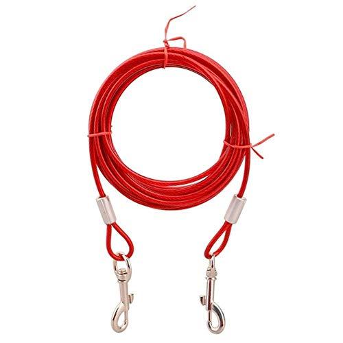 KIU stalen draad touw Leash kabel met dubbele koppen metalen haken lood riem voor kleine grote huisdier kat hond