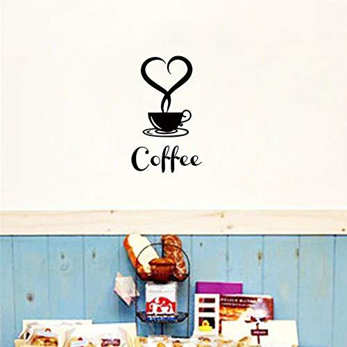 AGQG Haben Sie eine Tasse Kaffee Muster Wandaufkleber für Shop Küche Esszimmer Dekoration Vinyl Wandkunst DIY Home Decals
