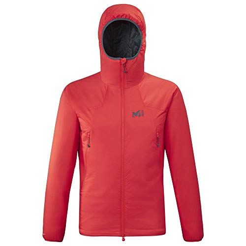 Millet K Belay Hoodie Insulated Jacket, Fire, S Mens
