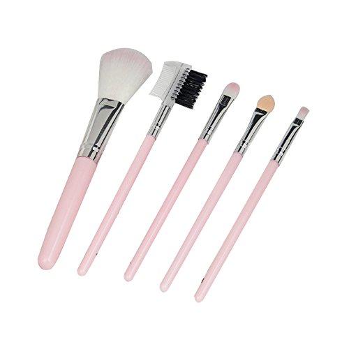 Emorias 5pcs/ensemble Brosse de maquillage incroyable Belle brosse de fard à joues Brosse de fondation Brosse à paupières Kit de brosse