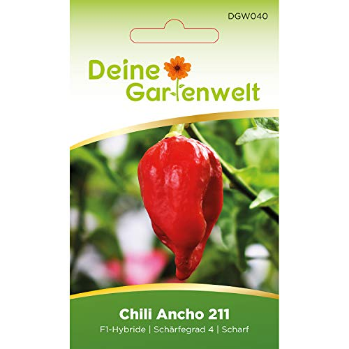Chili Ancho 211 F1 | Samen für scharfe Chilis | Chilisamen | Anchosamen
