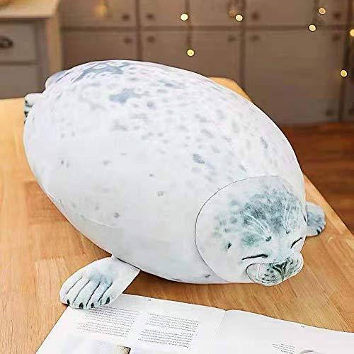 Siegelkissen Kaiyukan weiche Siegelpuppe Aquarium Plüschtier 40cm Weiß