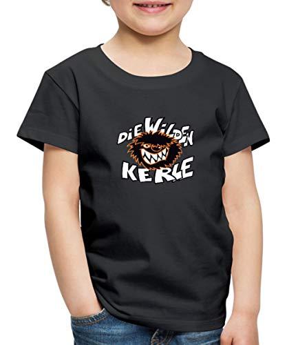 Die Wilden Kerle Logo Kinder Premium T-Shirt, 134-140, Schwarz