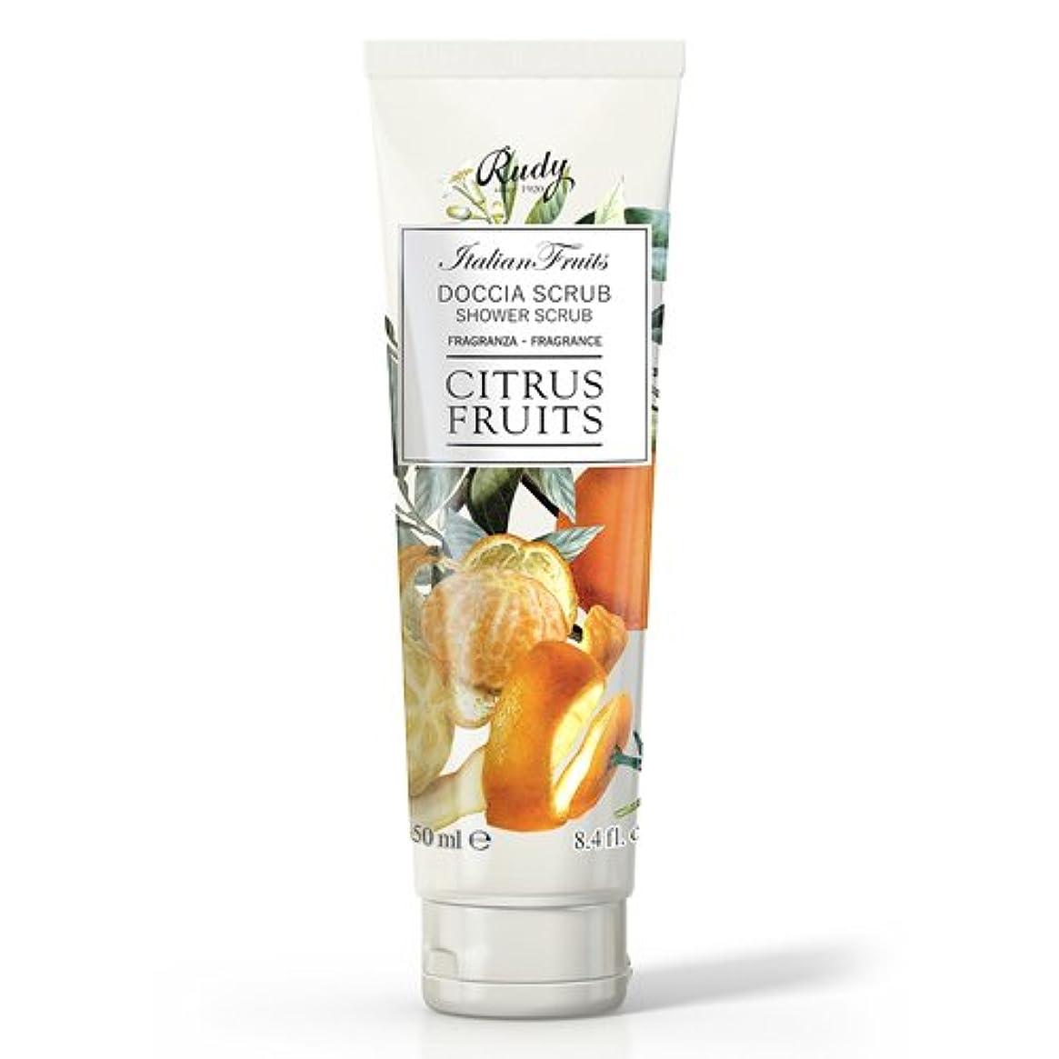 パール傾くとしてRUDY Italian Fruits Series ルディ イタリアンフルーツ Shower Scrub シャワースクラブ Citrus Fruits
