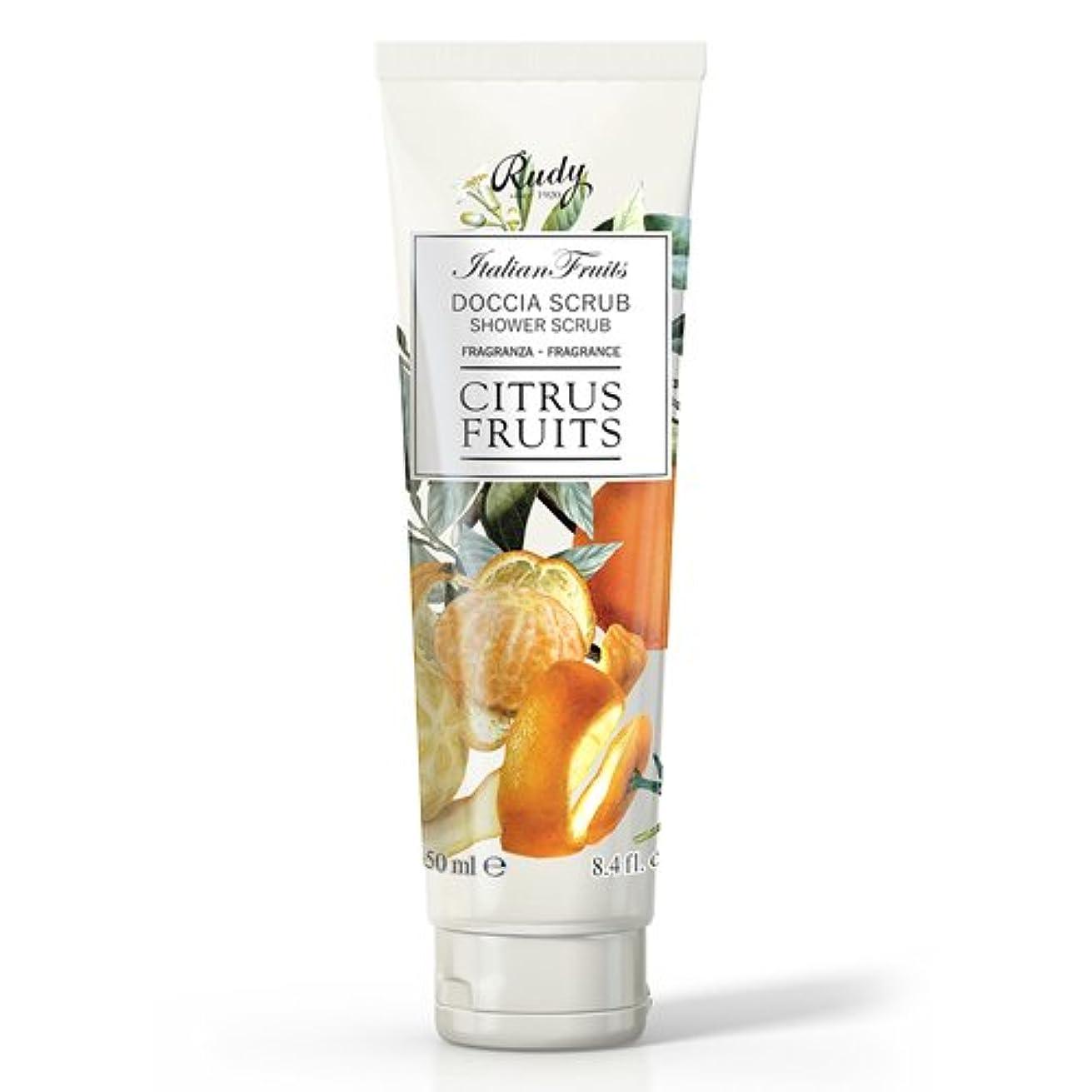 上院議員答えフィドルRUDY Italian Fruits Series ルディ イタリアンフルーツ Shower Scrub シャワースクラブ Citrus Fruits