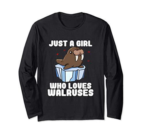 Just A Girl Who Loves Walruses Regalo Disfraz De Morsa Manga Larga
