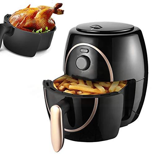 Freidora de aire multifuncional sin aceite de gran capacidad de 4.5L, calentamiento rápido, revestimiento antiadherente, haga un delicioso pollo no frito en su propia cocina