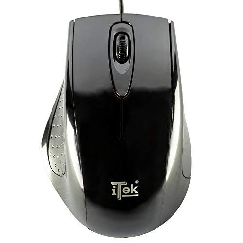 Mouse iTek ergonomico 3 tasti scroll USB retail