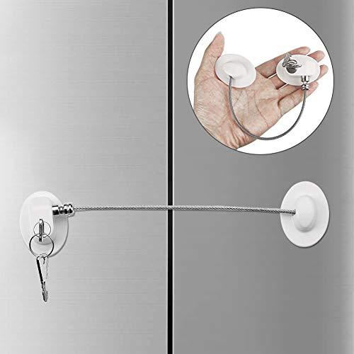 Blocco finestra,Blocco frigo,Cavo Limitatore Apertura,Blocco porta del frigorifero con chiave,Serratura per bambini con chiave,Sicurezza per Bambini Blocca Cavo Limitatore (1)