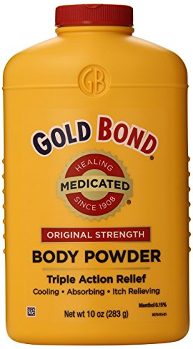 Gold Bond Medicated Powder, 10 Ounce Containers, Helps Soothe and Relieve Skin Irritations and Itching, Cools, Absorbs Moisture, Deodorizes, Pack of 3