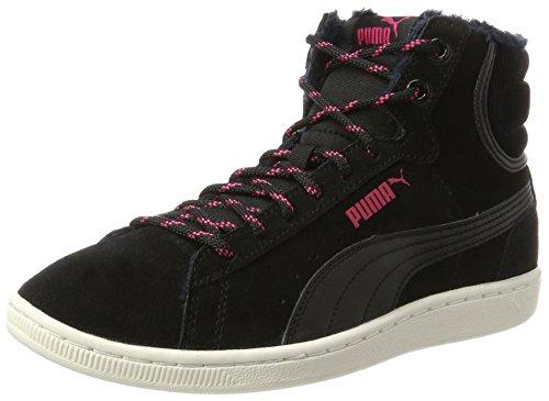 PUMA Vikky Mid Corduroy, Sneaker Donna, Nero (Black-Black), 40.5 EU