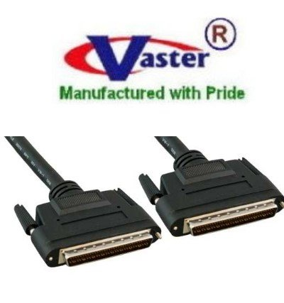 SuperEcable - 20360-3 Ft -SCSI-3 Cable, 3 Ft HPDB68 Male to Male SCSI Cable (LVD 320) Black Color