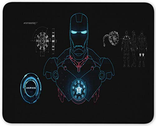 Iron Man Mouse Pad Non Slip Rubber Mousepad Gaming Office Rectangle Mouse Mat