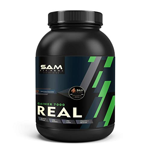 SamFit Pro Real Gainer 7X - 20g Proteins Per Scoop 1Kg (Chocolate) - For High Muscle Mass Gainer