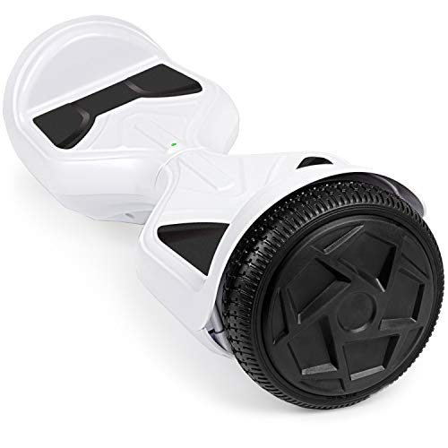 UNI-SUN Hoverboard for Kids, 6.5' Two Wheel Self Balancing Hoverboards with LED Lights for Adults, White Hover Board with Bluetooth