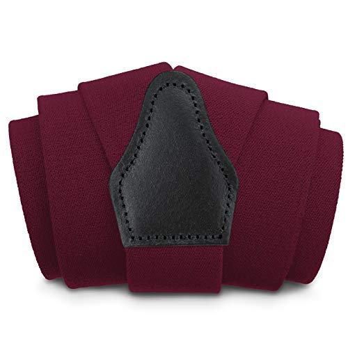 Sencillo Damen Hosenträger Dunkelrot mit schonenden Clips Y-Form Roter Hosenträger