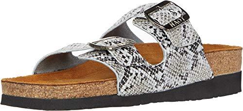 NAOT Footwear Women's Santa Barbara Sandal Gray Cobra Lthr 11 M US