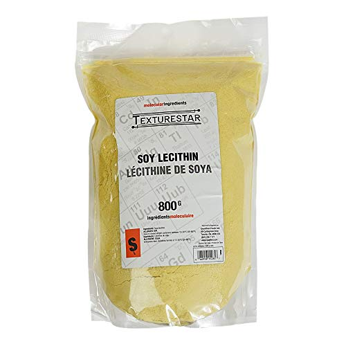 Texturestar Pure Soy Lecithin Powder for Cooking and Baking, 800g | 100% Food Grade, Vegan, Molecular Gastronomy