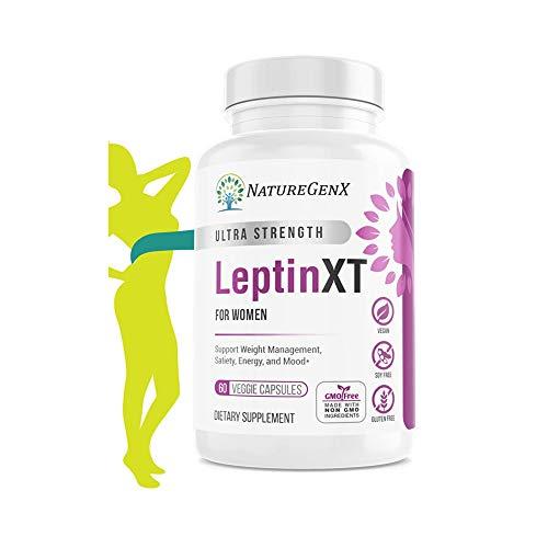 NatureGenX - Leptin XT - Leptin Resistance Supplements for Weight Loss -Leptin Hormone Supplements - Vegan - 60 Pills -Leptin Burn for Women