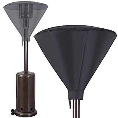 Standup Patio Heater Head Cover, Waterproof Protected Cover for Stand-Up Fire Sense Heaters, 36 x 26 inches 420D Oxford Outdoor Covers with Zipper to Protects Against Rain, Snow and Outdoor Elements
