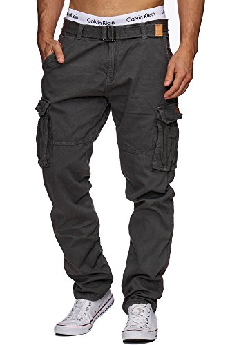 Indicode Homme William Pantalon Cargo en Coton...