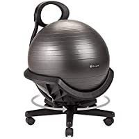 Gaiam Ultimate Balance Exercise Stability Yoga Chair for Home and Office Desk (Standard or Swivel Base Option)