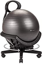 Gaiam Ultimate Balance Ball Chair with Swivel Base - Premium Exercise Stability Yoga Ball Ergonomic Chair for Home and Office Desk - Air Pump, Exercise Guide