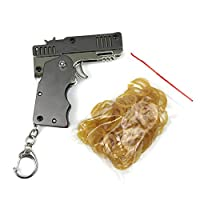 ▶ FOLDABLE UND TRAGBAR: Die Spielzeugpistolen unterscheiden sich von anderen Holzgummibandpistolen oder Holzpistolen. Unsere Gummibandpistolen sind alle aus Metall, faltbar und tragbar. Mit Schlüsselbund kann leicht am Gürtel aufgehängt werden. ▶ MEH...
