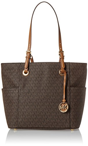 Michael Kors Women's Jet Set Item Ew Signature Tote, Brown