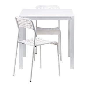 Ikea MELLTORP/ADDE - Mesa y 2 sillas, Color Blanco, 75 cm