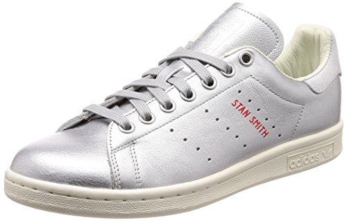 adidas Damen Stan Smith Fitnessschuhe, Silber (Plamet/Plamet/Tinazu 000), 40 2/3 EU